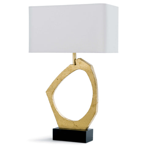 Manhattan Table Lamp in Gold Leaf design by Regina Andrew
