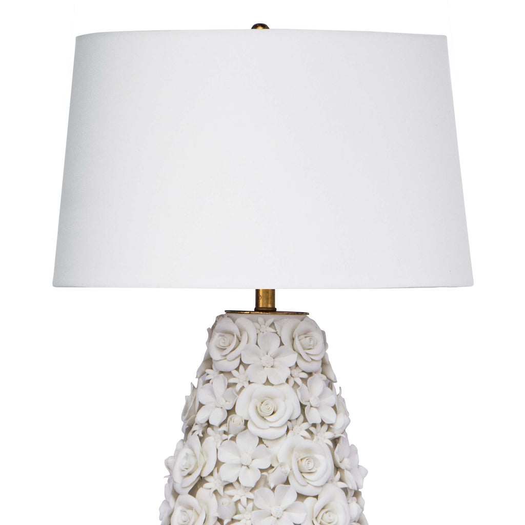 Alice Porcelain Flower Table Lamp design by Regina Andrew