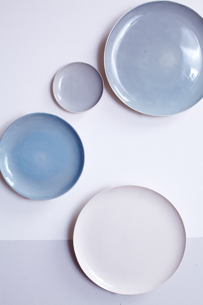 Shell Bisque Dinner Plate in Blue design by Canvas & Shell Bisque Dinner Plate in Blue design by Canvas u2013 BURKE DECOR