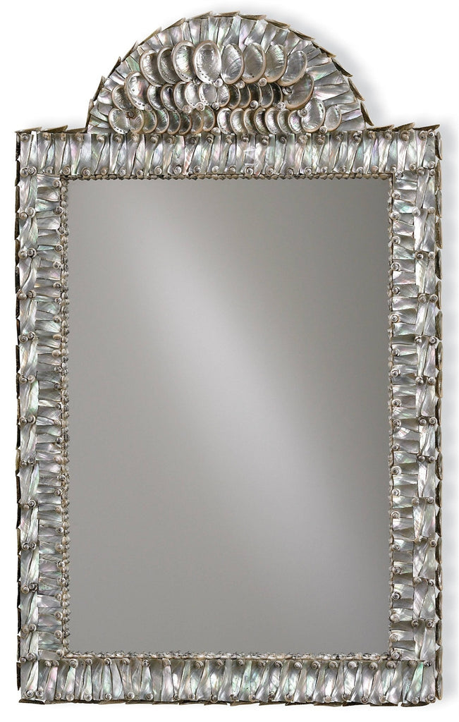 Abalone Wall Mirror design by Currey & Company - BURKE DECOR