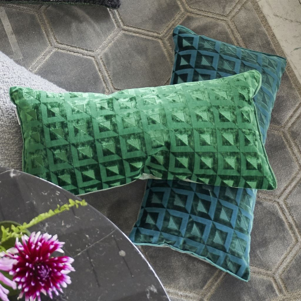 Monserrate Viridian Decorative Pillow