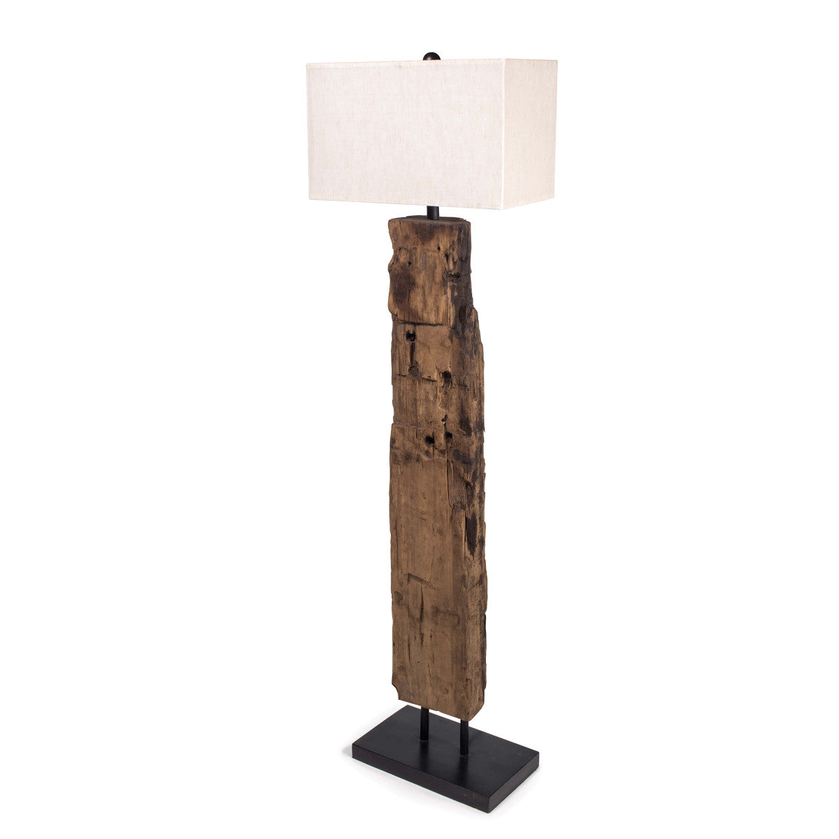 Reclaimed Wood Floor Lamp design by Regina Andrew