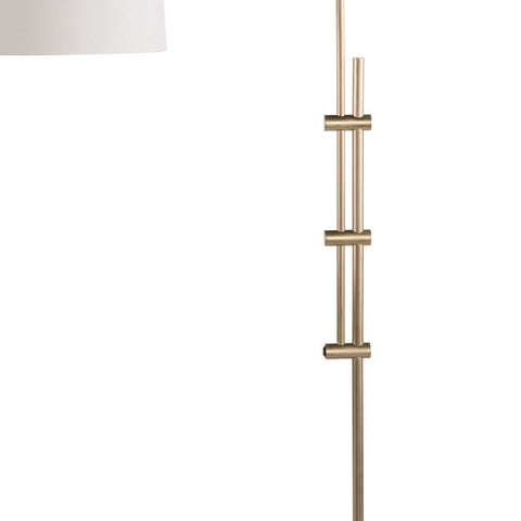Arc Floor Lamp With Fabric Shade