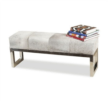 Moro Hide Bench design by Interlude Home