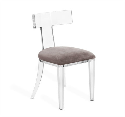 Tristan Acrylic Klismos Chair design by Interlude Home