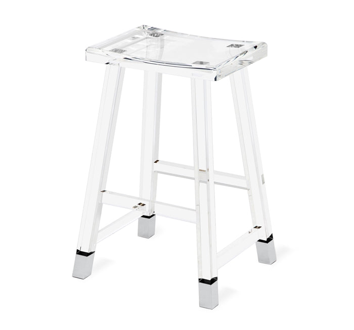 Reva Counter Stool - Nickel design by Interlude Home