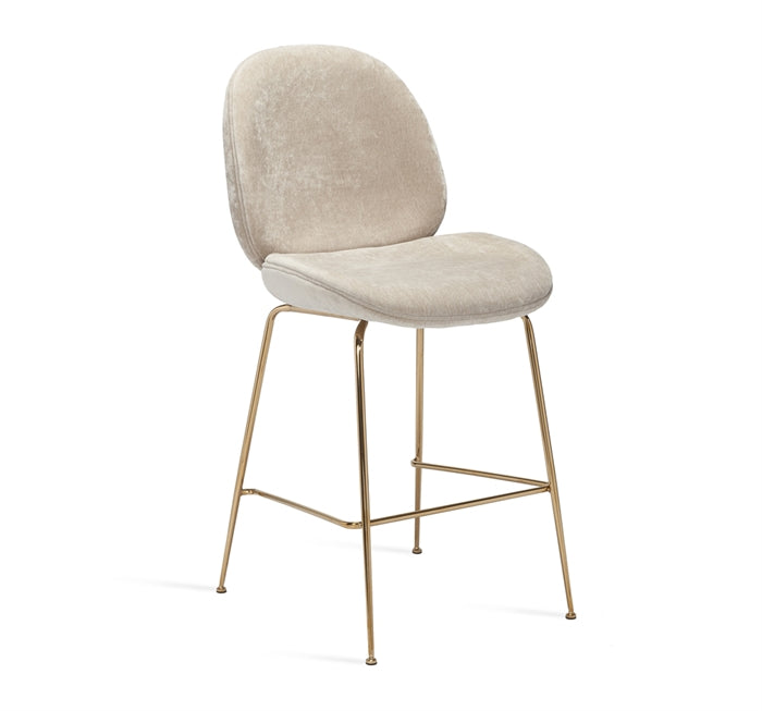 Luna Counter Stool Beige Latte Design By Interlude Home