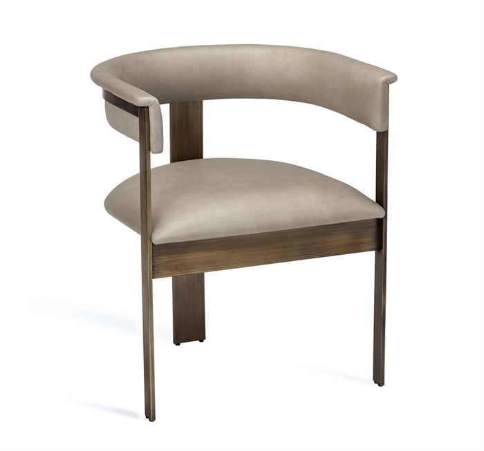 Darcy Dining Chair Taupe Leather Design By Interlude Home