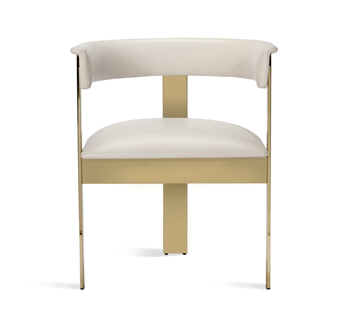 Darcy Dining Chair Cream Leather Design By Interlude Home