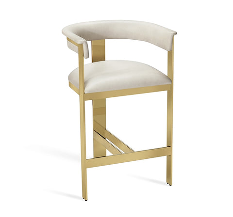 Darcy Counter Stool Cream Leather Design By Interlude Home