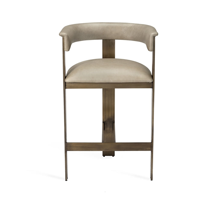 Darcy Counter Stool Taupe Leather Design By Interlude Home