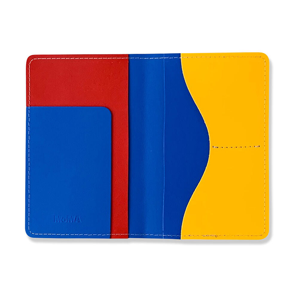 Primary Recycled Leather Passport Case by MoMA