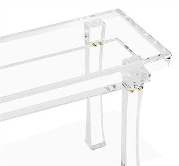Keiko Acrylic Bench design by Interlude Home