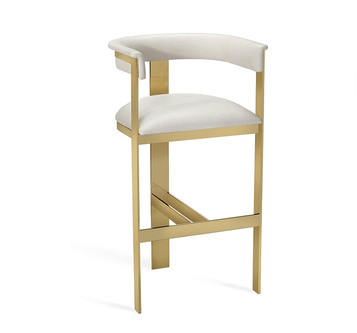 Darcy Bar Stool Cream Leather Design By Interlude Home