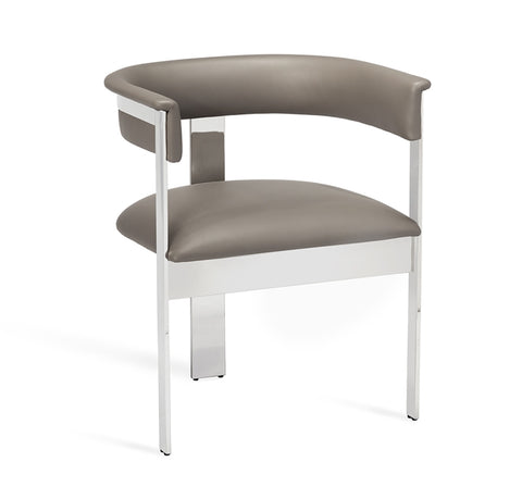 Darcy Dining Grey Nickel Design By Interlude Home