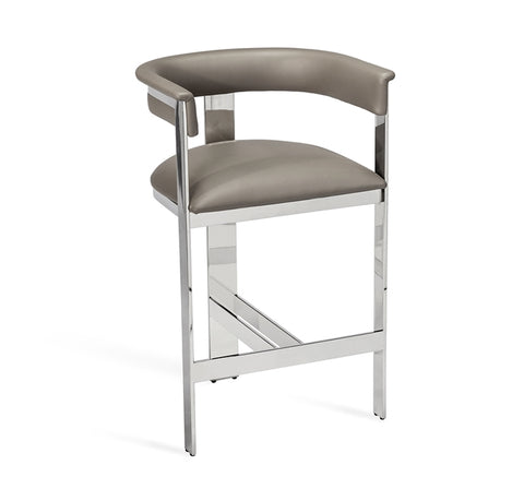 Darcy Counter Stool Grey Nickel Design By Interlude Home