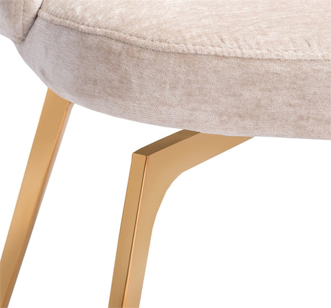 Amara Dining Chair in Beige Latte design by Interlude Home