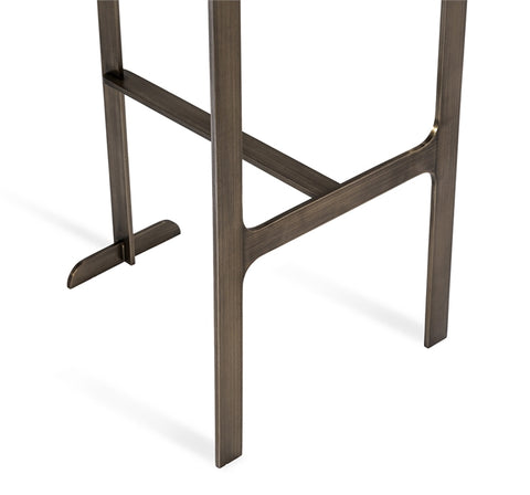 Hollis Bar Stool in Grey & Bronze design by Interlude Home