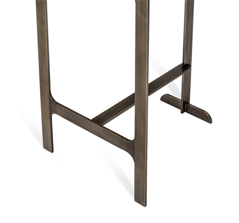 Hollis Counter Stool in Grey & Bronze design by Interlude Home