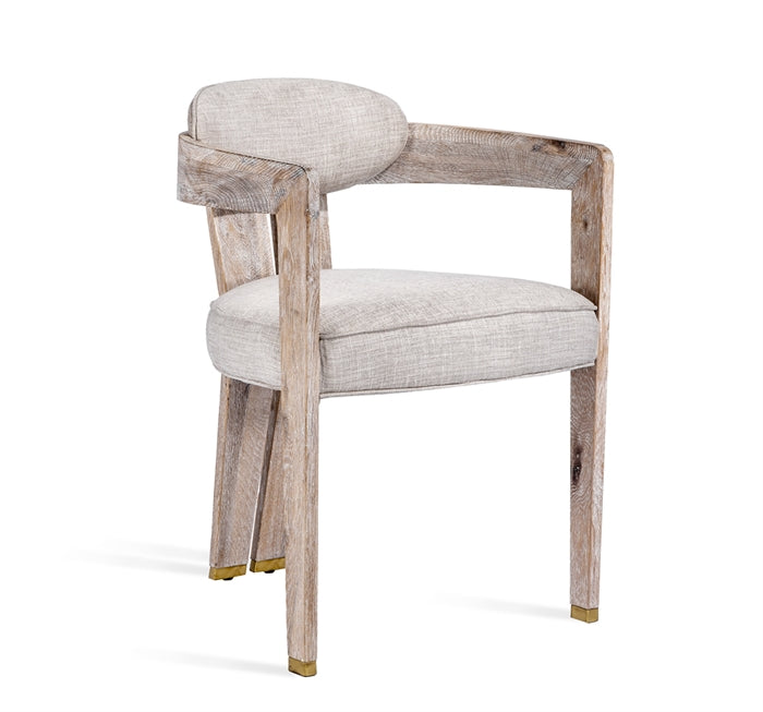 Maryl Ii Dining Chair In Cream Linen Burke Decor