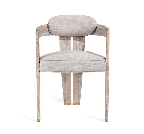 Maryl II Dining Chair in Cream Linen design by Interlude Home