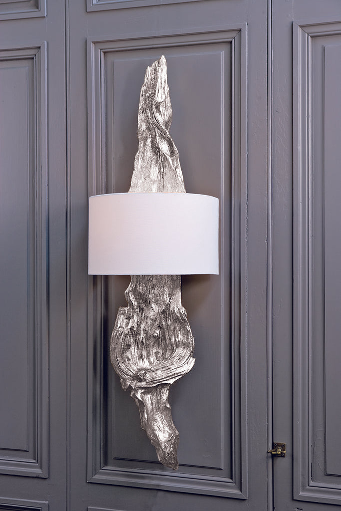 Driftwood Sconce in Ambered Silver Leaf design by Regina Andrew