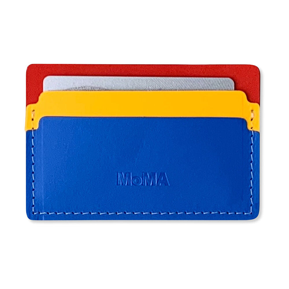 Primary Recycled Leather Cardholder by MoMA