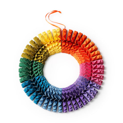 Colorwheel Paper Wreath by MoMA