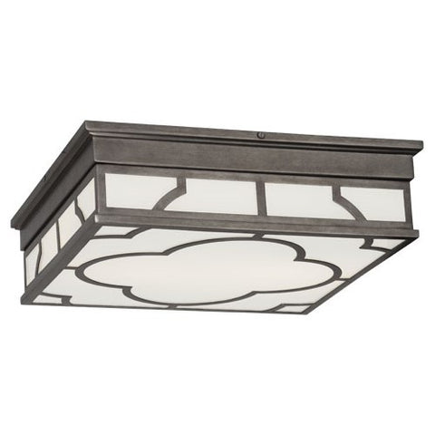 Addison Flushmount in Patina Nickel design by Robert Abbey