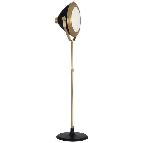 Apollo Floor Lamp in Antique Brass Finish w/ Matte Black Painted Accents design by Robert Abbey
