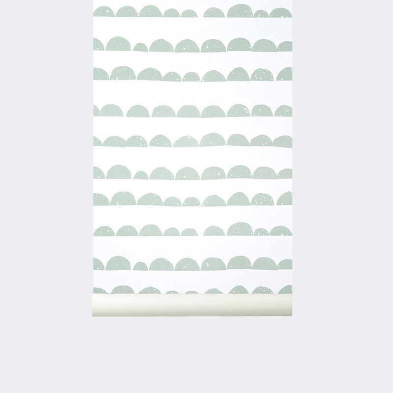 Half Moon Wallpaper in Mint design by Ferm Living