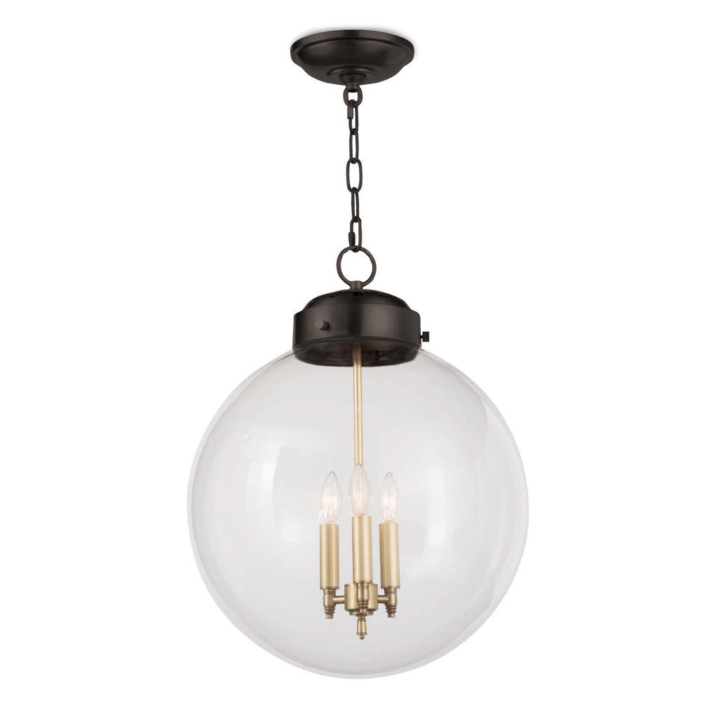 Globe Pendant in Oil Rubbed Bronze & Natural Brass design by Regina Andrew