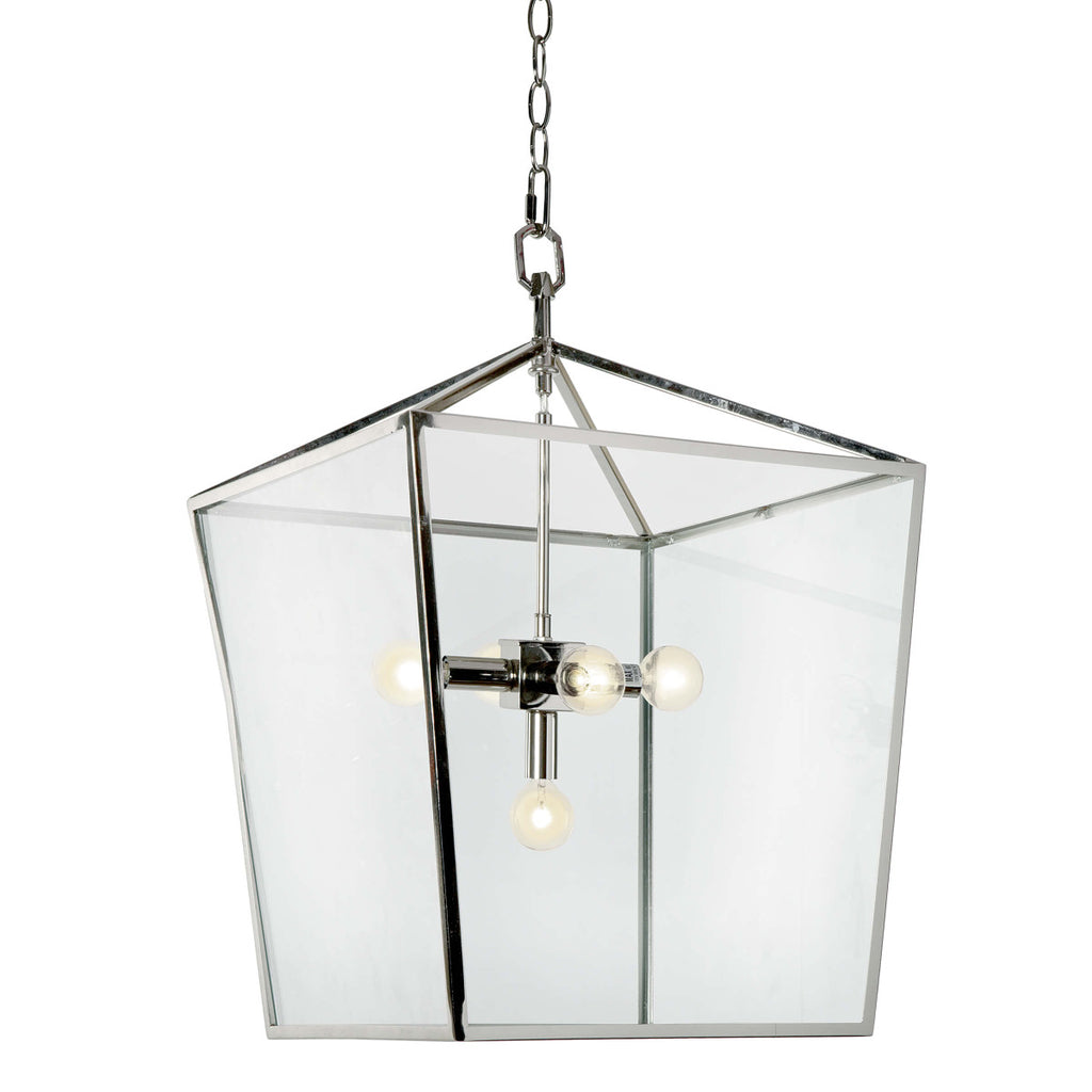 Camden Lantern in Polished Nickel design by Regina Andrew