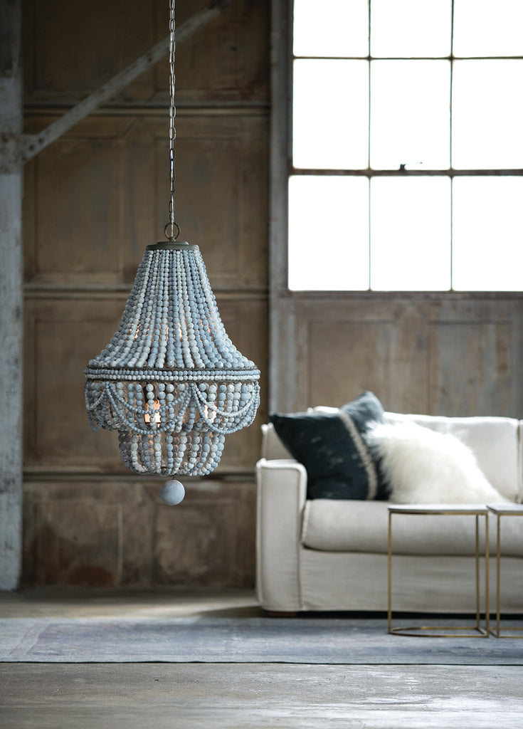 Malibu Chandelier in Weathered Blue design by Regina Andrew