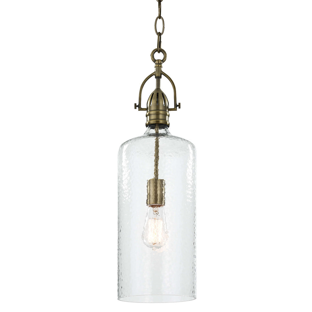 Bar Pendant in Natural Brass design by Regina Andrew
