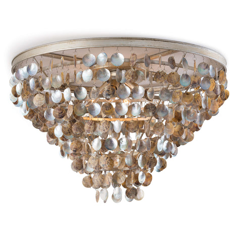 Capri Abalone Shell Flush Mount