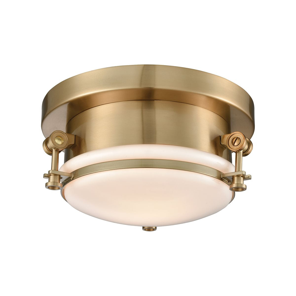 Riley 1 Flush Mount in Satin Brass design by BD Fine Lighting