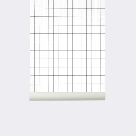 Grid Wallpaper in Black/White design by Ferm Living