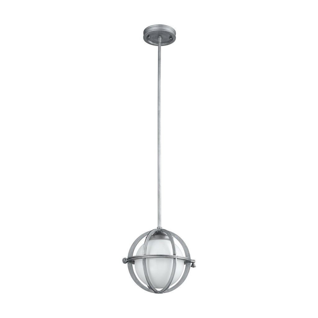 Aubridge 1 Pendant in Weathered Zinc