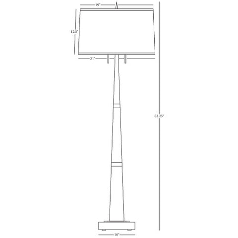 Florence Floor Lamp by Robert Abbey