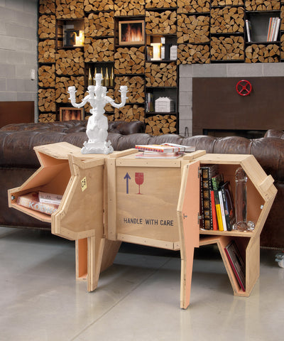 Sending Animals Wooden Furniture Pig design by Seletti