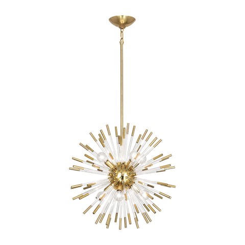 Andromeda Pendant in Modern Brass Finish w/ Clear Acrylic Accents by Robert Abbey