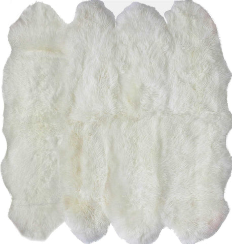 Hand Made Octo Sheepskin Rug in Natural design by Nuloom