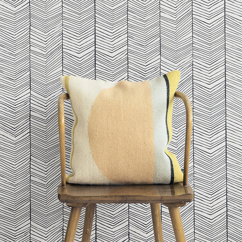 Herringbone Wallpaper design by Ferm Living
