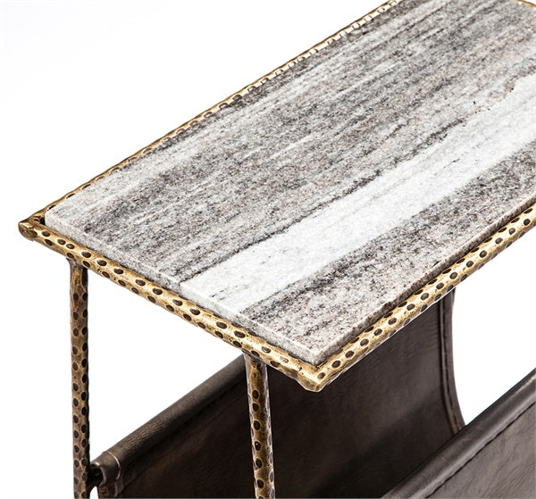 Strauss Magazine Table Grey Brass Design By Interlude Home