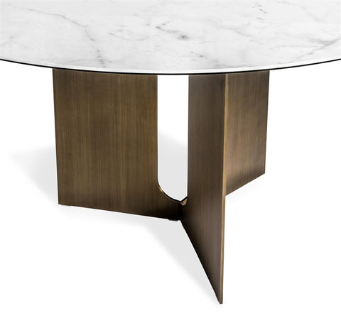 Pierre Dining Table in Bronze design by Interlude Home