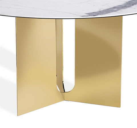 Pierre Dining Table in Brass design by Interlude Home