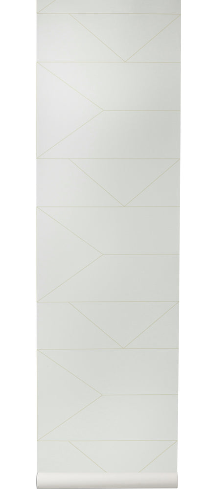 Lines Wallpaper in Off-White by Ferm Living