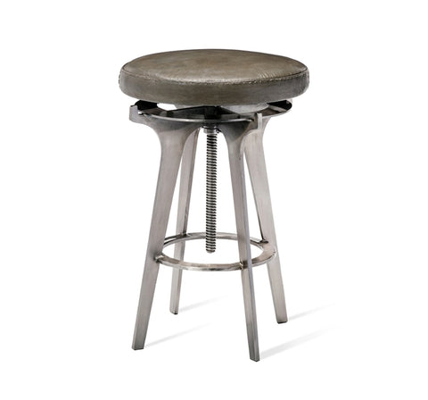 Colton Adjustable Stool Silver Design By Interlude Home