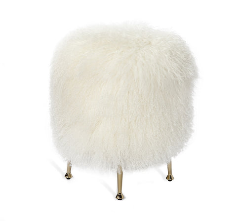 Antonia Stool Ivory Sheepskin Design By Interlude Home